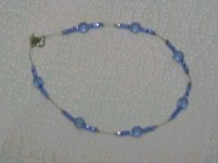 Blue Beaded Anklet