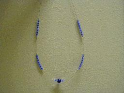 Blue Ball Beaded Necklace