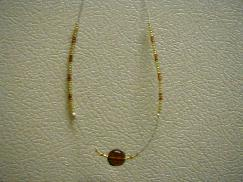 Brown Circle Beaded Necklace