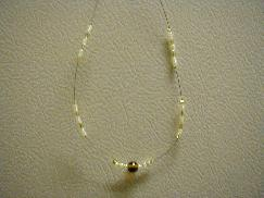 Brown Yellow Beaded Necklace