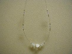 Clear White Frost Beaded Necklace