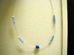 Dark Blue Beaded Necklace