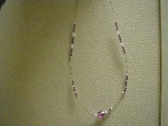 Lavender Oval Beaded Necklace